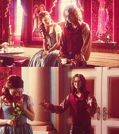 Rumplestiltskin and Belle <3 They are my favorite love story in the show :)