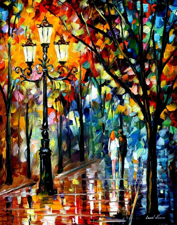 KALEIDOSCOPE OF LOVE PALETTE KNIFE Oil Painting On Canvas By Leonid Afremov