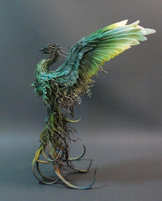 Forest Floor Phoenix. Original sculpture by creaturesfromel
