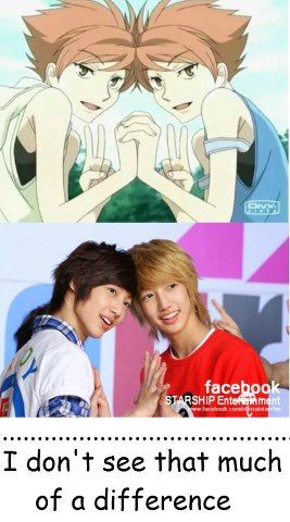 Omg! I was like Young Min and Kwang Min could totally be Hikaru and Kaoru from Ouran High School Host Club!