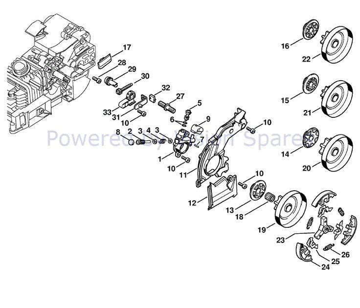 Stihl MS 200 Chainsaw (MS200Z) Parts Diagram, Oil Pump