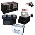 StormPro Battery Backup Sump Pump System (2100 GPH @ 10') & Battery. If you're looking for a high quality backup sump pump system, that goes above and beyond what you would find in a big box retailer, choose a StormPro 2100DC.     These systems were originally sold only by plumbers, contractors and plumbing distributors. Now you have the opportunity to buy what the professionals do.