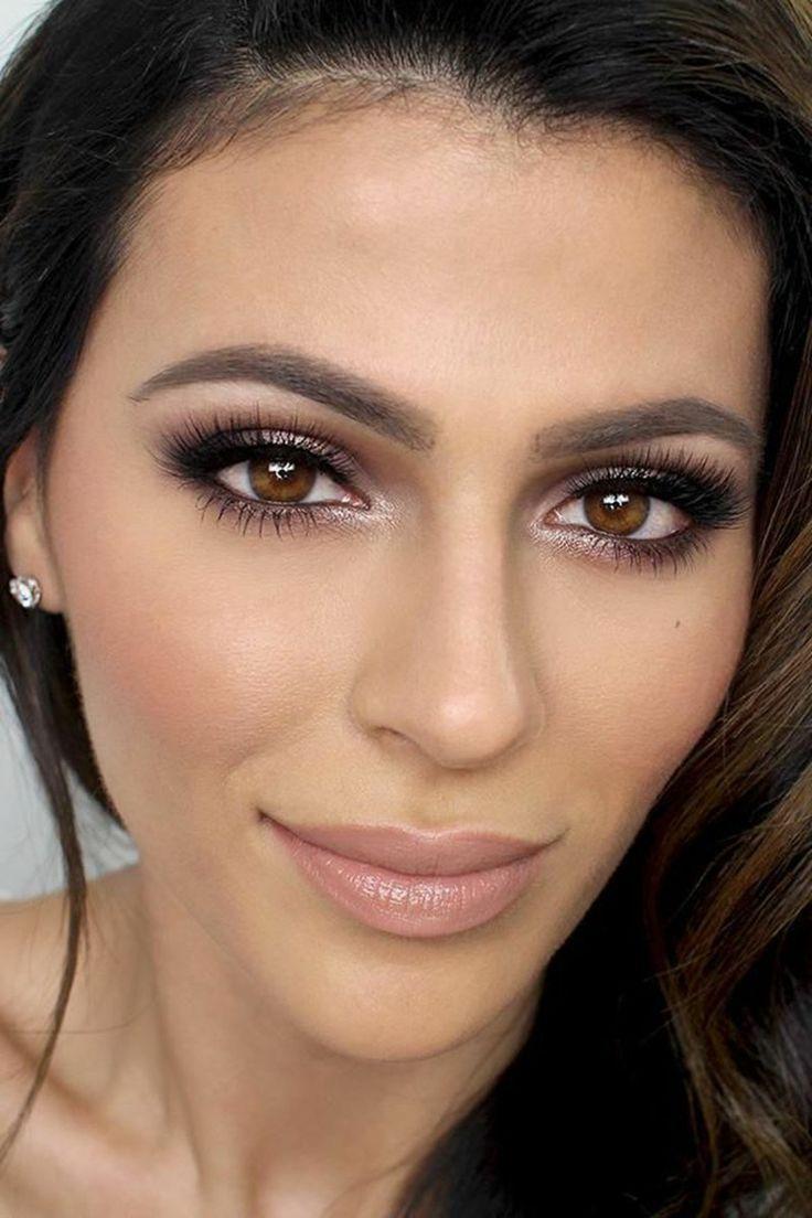 schwarze mascara konturen augenbrauen schminken braune augen #makeup #beauty