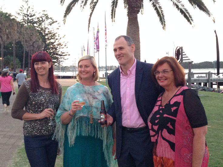 Mayor Peter Besseling, Alix Clark from SBS Feast and Sonia Fingleton