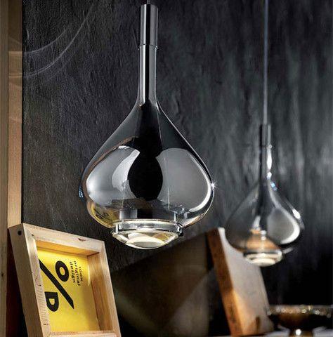 Handblown Glass Pendant Light - Italian Designed and Made