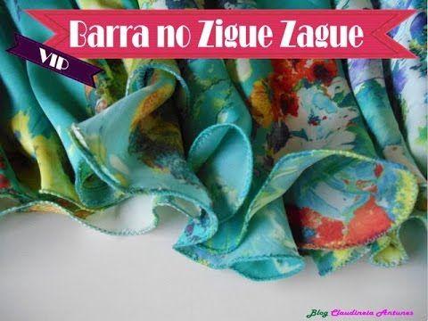 Barra Ponto Zigue Zague Para Vestidos de Festa - YouTube