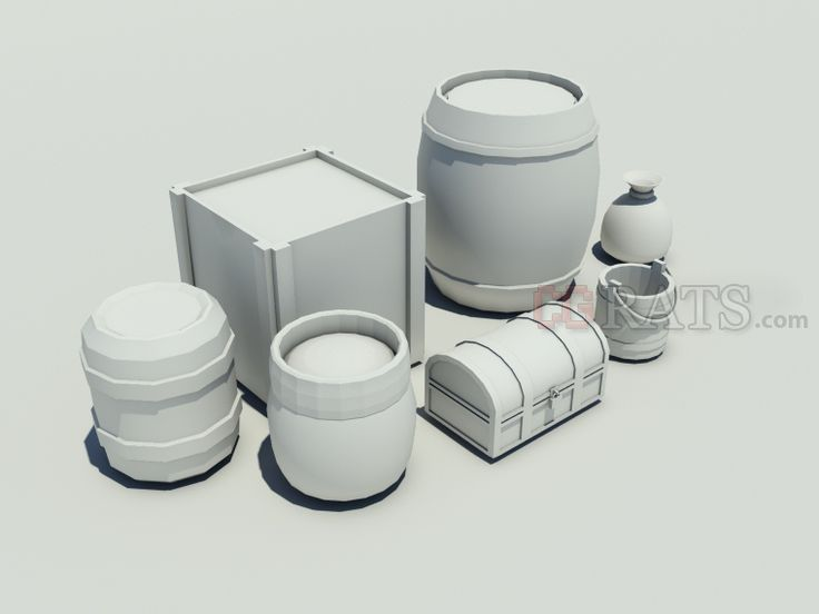 Low Poly Props - http://www.cgrats.com/low-poly-game-props-misc.html