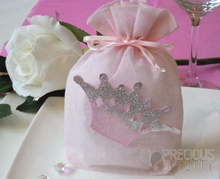 Christening favors crown theme B004