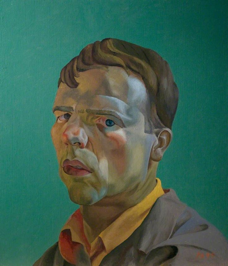 philip akkerman(`957- ), self portrait no.31, 1995. oil on board, 50 x 43 cm. leicester arts and museums service, uk http://www.bbc.co.uk/arts/yourpaintings/paintings/self-portrait-no-31-81567