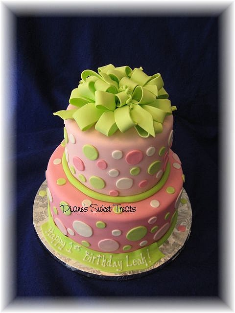 Happy Birthday Diane Cake Pink And Green