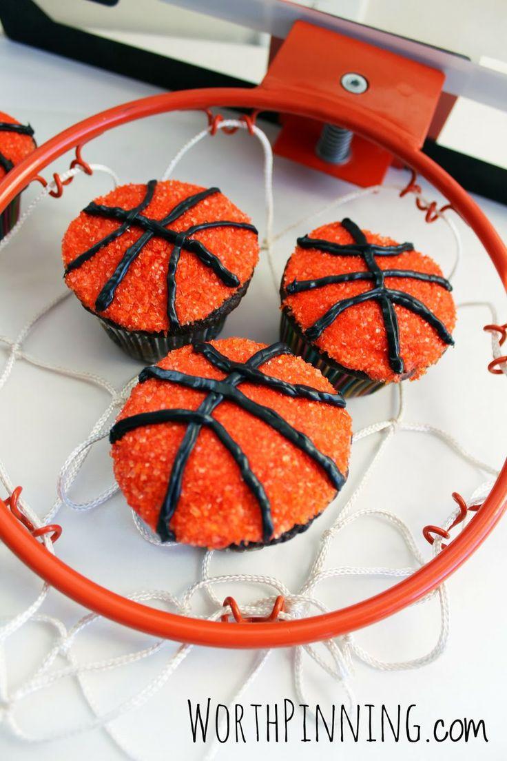 Worth Pinning: Basketball Cupcakes