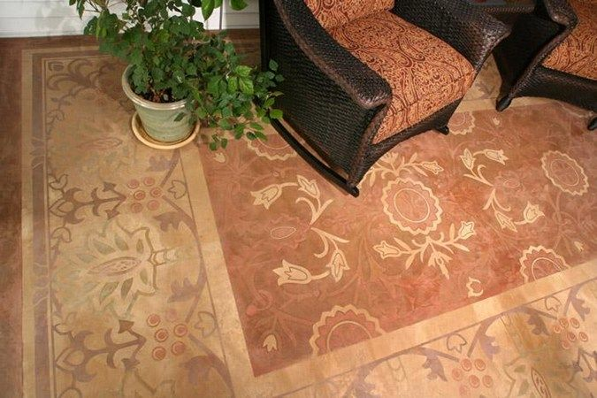 61 Best Images About Stenciled Concrete On Pinterest