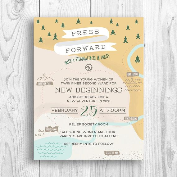 New Beginnings, Evening of Excellence invitations - press forward with a steadfastness in Christ