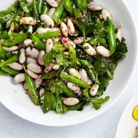 Brussels Sprouts with White Beans and Pecorino Recipe - Bon Appétit