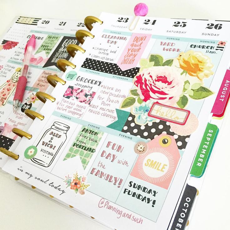 planningandsuch: This has been my favorite layout in my @the_happy_planner. Hope you enjoyed it too.