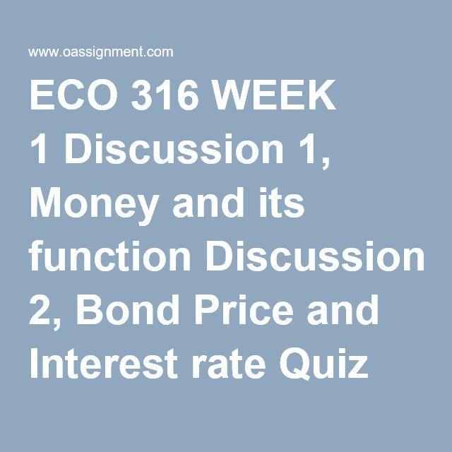 ECO 316 Week 2 DQ1