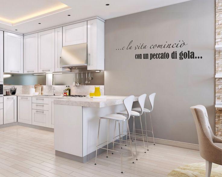17 migliori idee su decorazioni murali da cucina su - Decorazioni pareti bagno ...