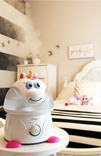Infant Crane Air Unicorn Ultrasonic Cool-Mist Humidifier #affiliate #unicorn #kidgifts