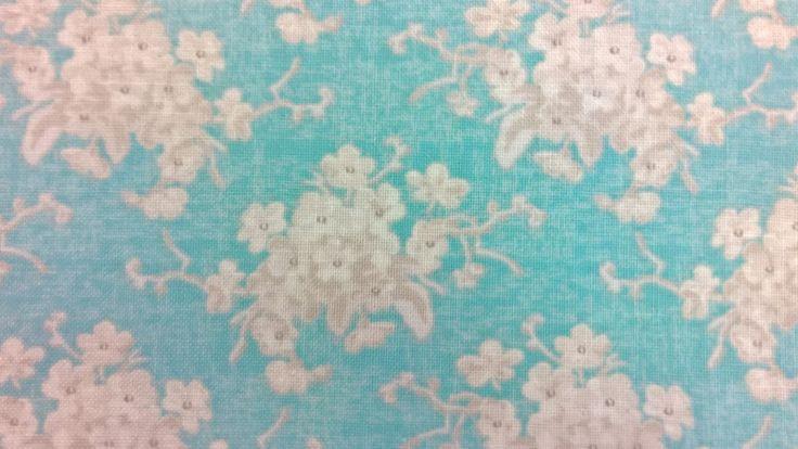 Stoff Blumen - Tilda Quilt Collection white flower - ein Designerstück von Stoffe-guenstig-kaufen bei DaWanda