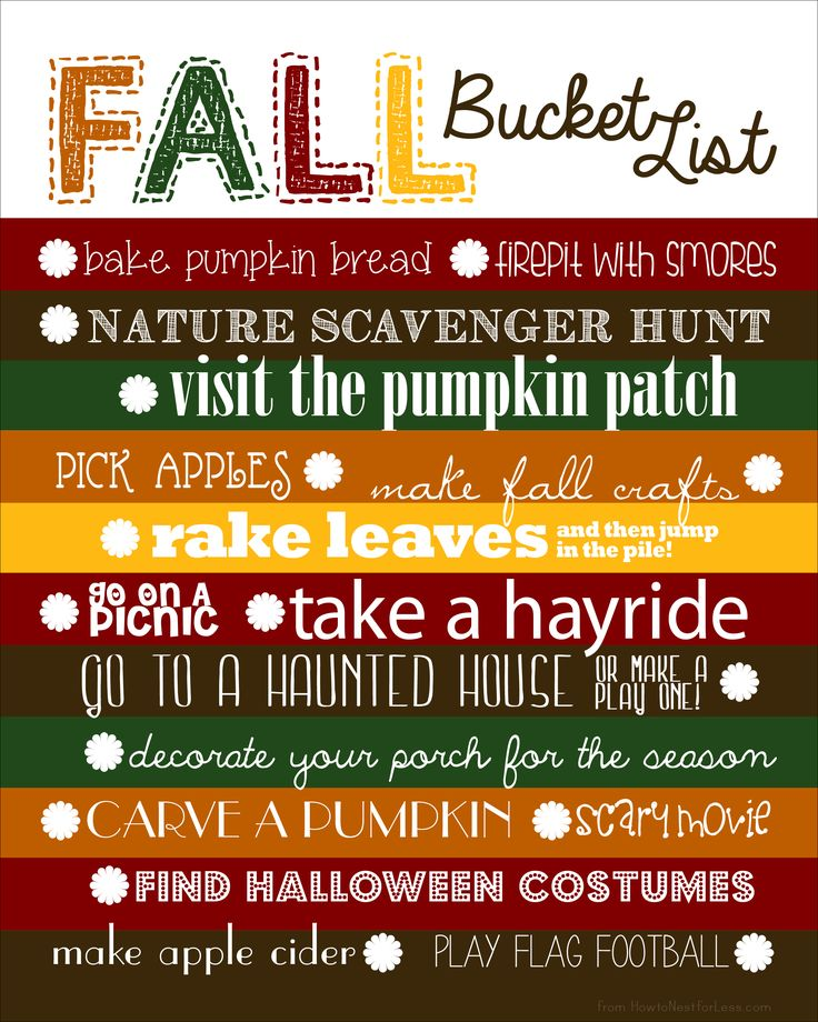 Fall Bucket List {and free template}