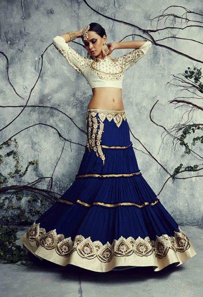 Designer Wedding Lehenga Choli Made with Georgette at www.fashionsbyindia.com #Lehenga
