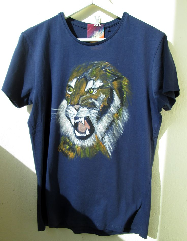 Tiger painted on t-shirt
