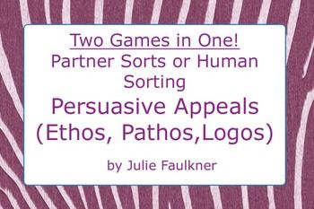Planning to analyze the State of the Union? Define and review Persuasive Appeals {Ethos, Pathos, Logos} - With this fun review game