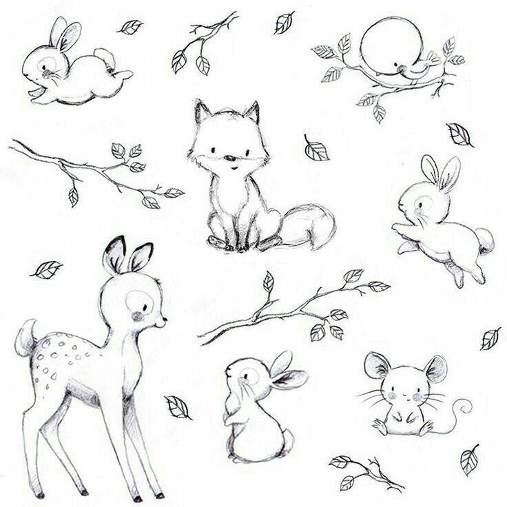 эти рисунки маленькие животные слову, практически