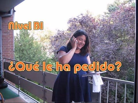 ¿Qué le ha pedido? Nivel B1, videoELE , para practicar el estilo indirecto para transmitir instrucciones con la transformación: imperativo - presente de subjuntivo.
