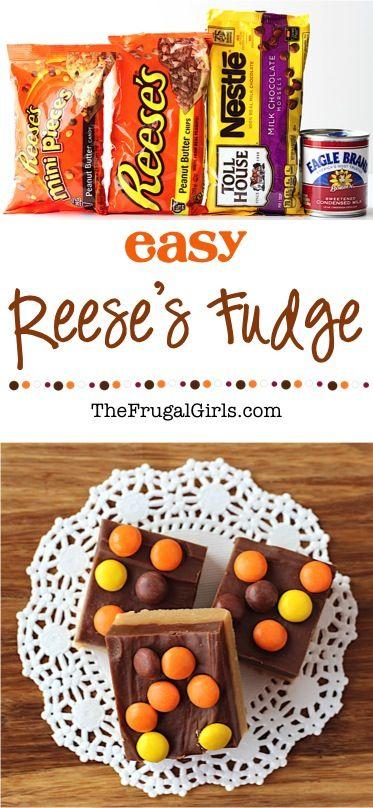 Reeses Fudge Recipe at TheFrugalGirls.com