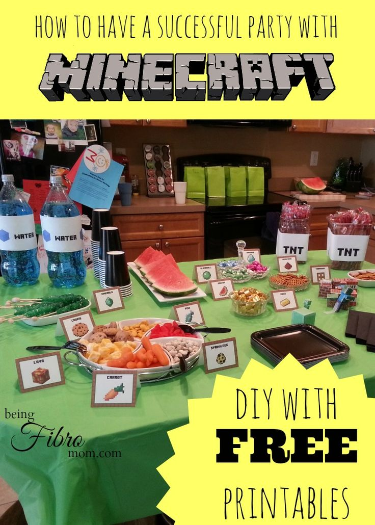Free Birthday Meals ~ Best ideas about minecraft food labels on pinterest party