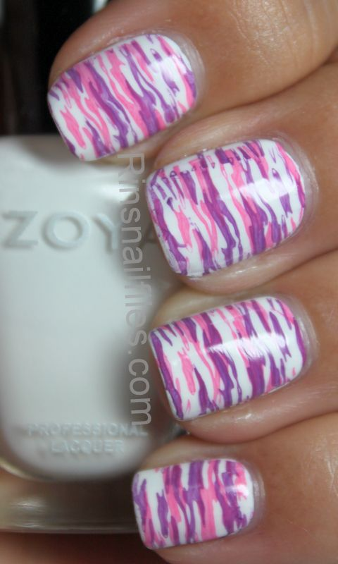 Pink and purple camo nails. These are awesome!!!