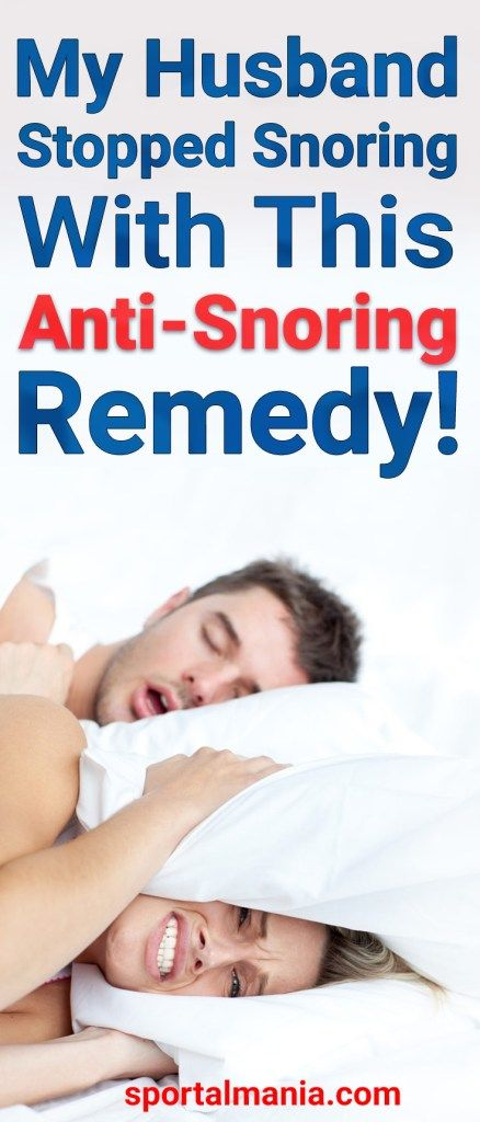 My Husband Stopped Snoring, When I Gave Him This Anti-Snoring Remedy!