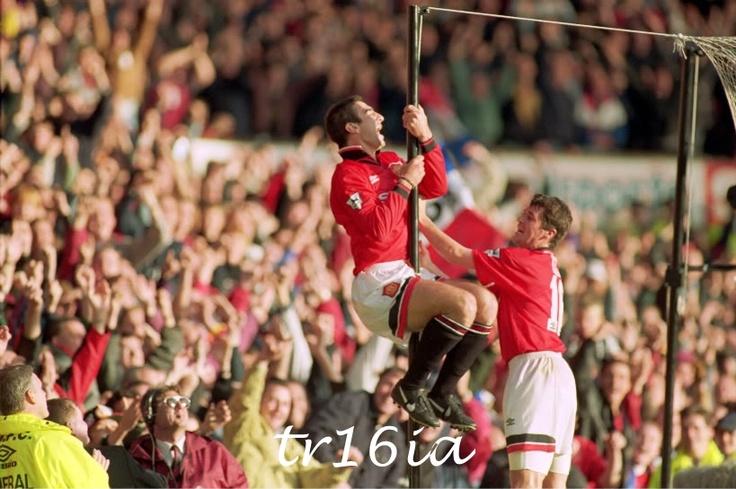 Roy Keane and Eric Cantona