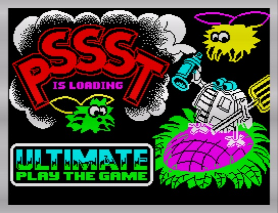 Loading screen from PSSST. One of Ultimate's early games.