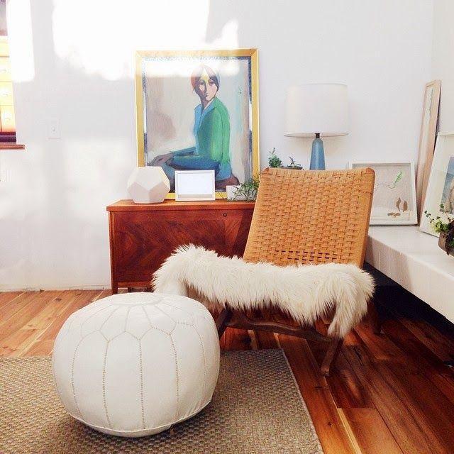 Chair W/pouf