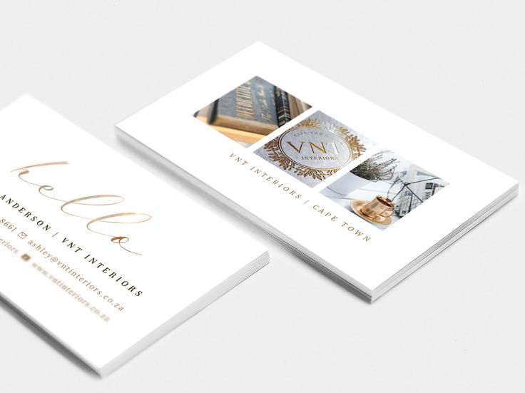 Logo and Business Card design for VNT Interiors by Pink Pigeon Graphic Design © www.pinkpigeon.co.za