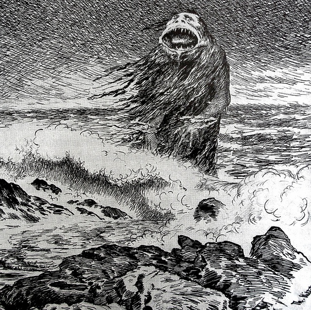 Theodor Kittelsen - The Sea Troll (detail), 1887 by Aeron Alfrey, via Flickr