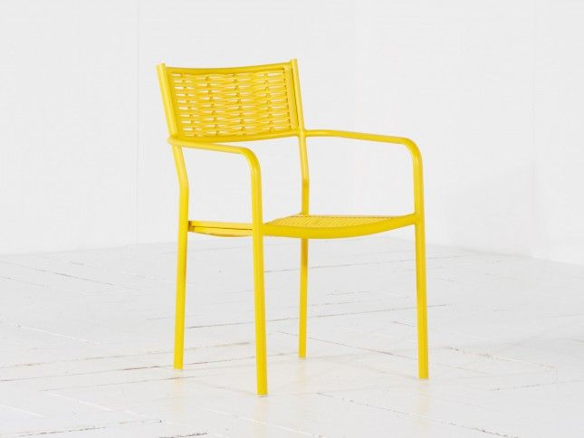 Intenso Albano diningstoel stapelbaar Yellow van Intenso Furniture