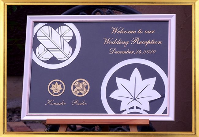 和装結婚式にぴったり♡素敵な結婚式に♡パープルのウェルカムボードまとめ一覧♡