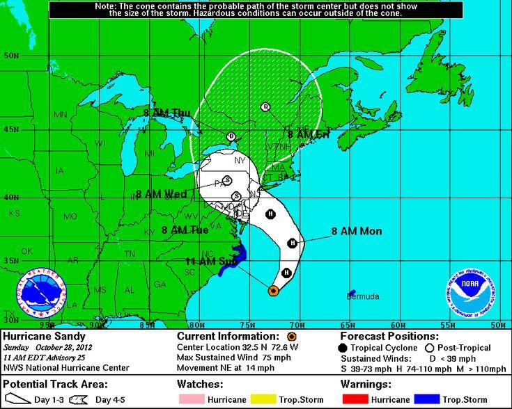 Hurricane Sandy Scatters Cruise Ships | One hurricane ...