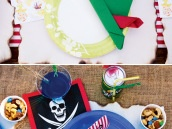 Peter Pan and Captain Hook Inspired Place Settings
