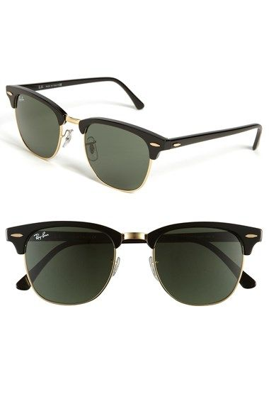 Free shipping and returns on Ray-Ban 'Classic Clubmaster' 51mm Sunglasses at Nordstrom.com. A classic silhouette is updated with partial metal rims.