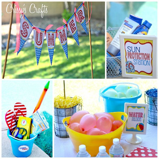 Pool Party Gift Bag Ideas pool party favours Pool Party Sunscreen Water Balloons