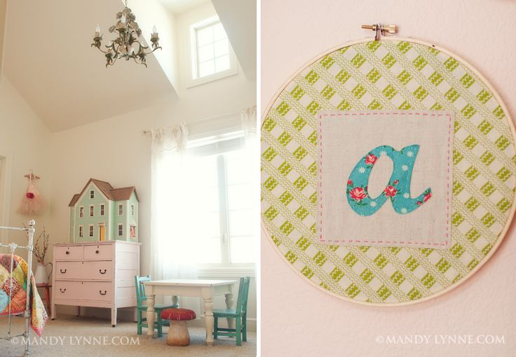Girls room: Copyright Mandylynn, Dolls Houses, Girls Bedrooms, Child Rooms, Little Girls Rooms, Little Girl Rooms, Embroidery Hoop, Doll Houses, Kids Rooms