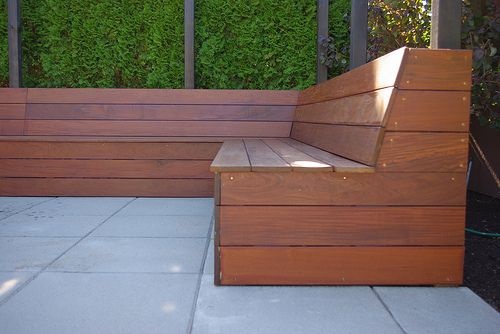 outdoor built in seating - Google Search
