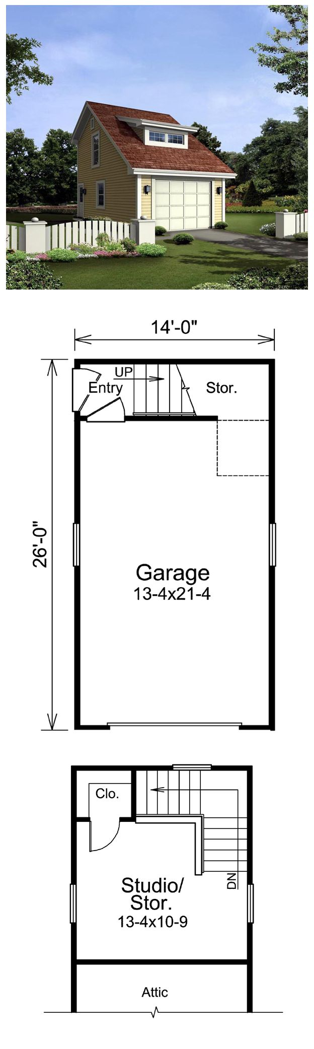 27 best images about one car garage plans on pinterest for Garage plans with storage