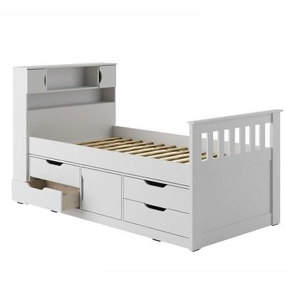 Best Kids Bed With Storage White Corliving Kids Beds With 400 x 300
