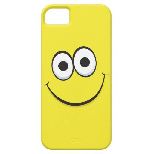 Smiling yellow happy cartoon smiley face funny iPhone 5 cases