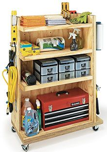 Garage storage cart for the shop.
